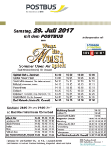 Postbus Sommer Musi 2017